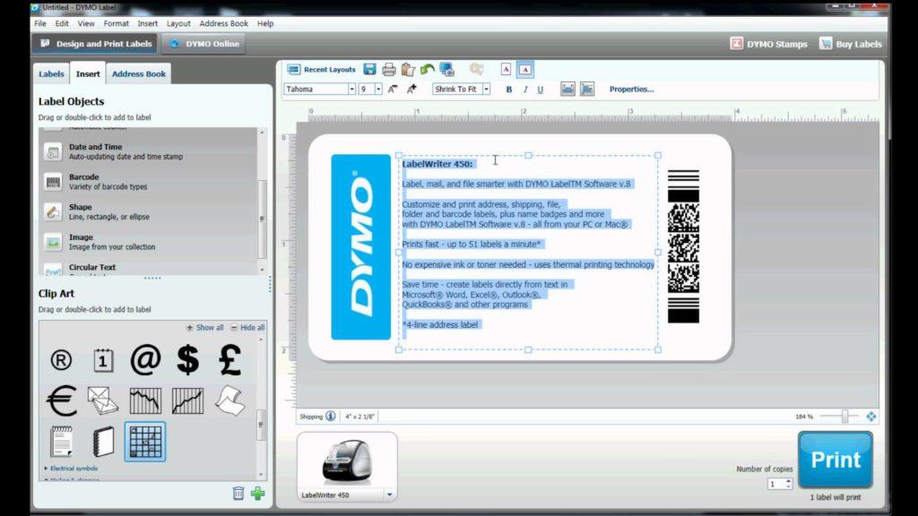 software dymo label writer