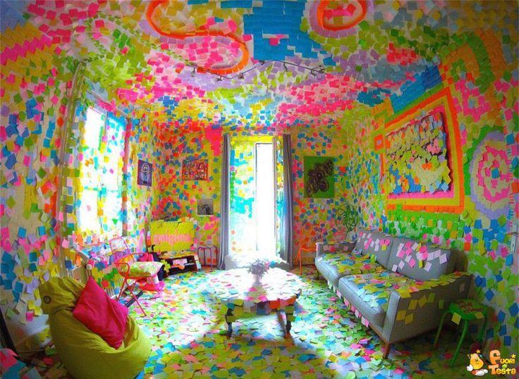 post-it per rallegrare la casa
