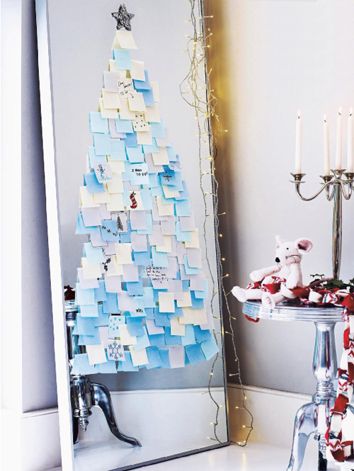 albero di natale con Post-It