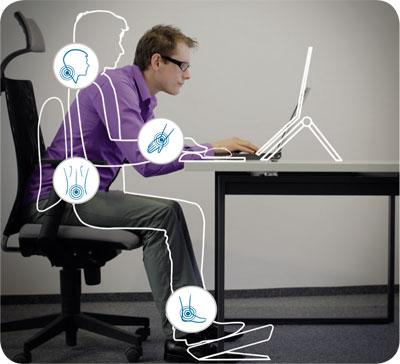 Sedie per ufficio consigli per una postura corretta for Sedia ufficio postura